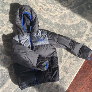 Boys the North Face reversible puffer jacket
